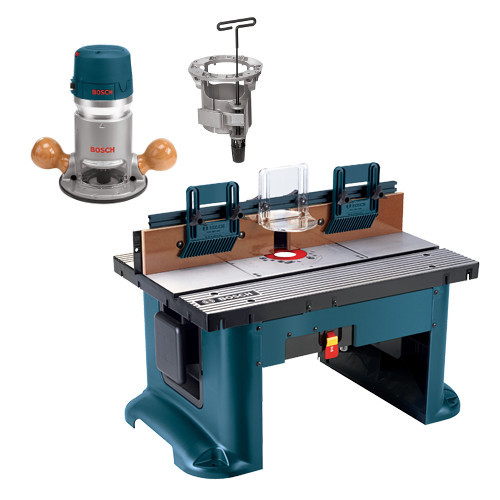 Bosch RA118EVSTB 2.25 HP Fixed-Base Electronic Router & Router Table Set