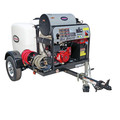 Simpson 95005 Trailer 4000 PSI 4.0 GPM Hot Water Mobile Washing System Powered by HONDA image number 1