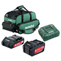 Metabo US625596052 Ultra-M 2 Ah and 5.2 Ah Lithium-Ion Battery (2-Pack), Charger, and Canvas Bag Kit image number 0