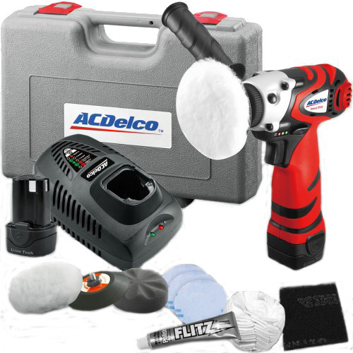 ACDelco ARS1210R 12V Cordless Lithium-Ion 3 in. Mini Polisher with Headlight Restoration Kit