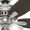 Hunter 53318 52 in. Newsome Brushed Nickel Ceiling Fan with Light image number 8