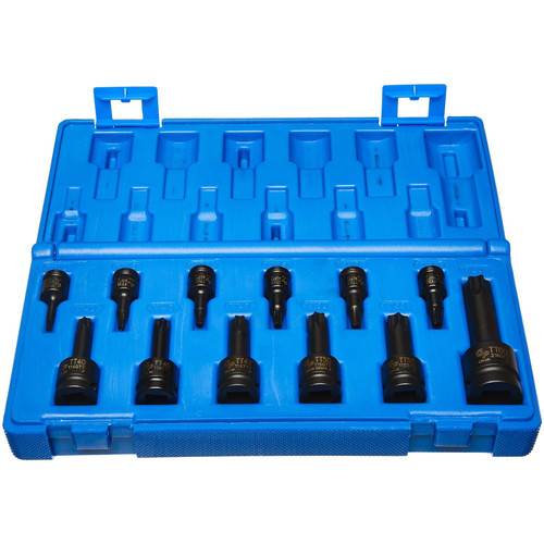 Grey Pneumatic 1235TT 12 Pc. 1/4 in., 3/8 in., 1/2 in. Tamper-Proof Star Driver Set