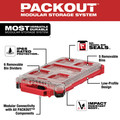 Milwaukee 48-32-4082 100-Piece Shockwave Impact Driver Bit Set with PACKOUT Low Profile Compact Organizer image number 4