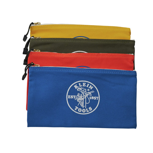 Klein Tools 5140 Canvas Zipper Bag Assortments, 12 1/2 in X 7 in, 4 per Pack image number 2