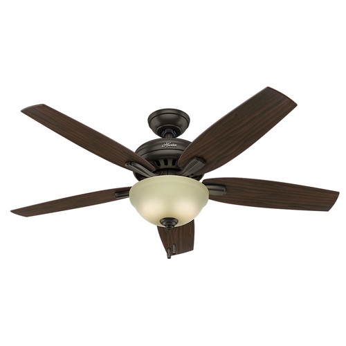 Hunter 53311 52 in. Newsome Premier Bronze Ceiling Fan with Light