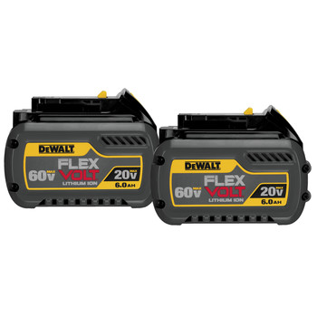 Dewalt DCB606-2 20V/60V MAX FLEXVOLT 6 Ah Lithium-Ion Battery (2-Pack)