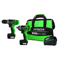 Hitachi KC10DFLPR 12V Peak 1.5 Ah Cordless HXP Lithium-Ion Micro Drill and Impact Driver Combo Kit