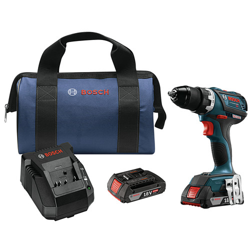 Factory Reconditioned Bosch DDS183-02-RT 18V 2.0 Ah Cordless Li-Ion Brushless Compact Tough 1/2 in. Drill Driver Kit image number 0