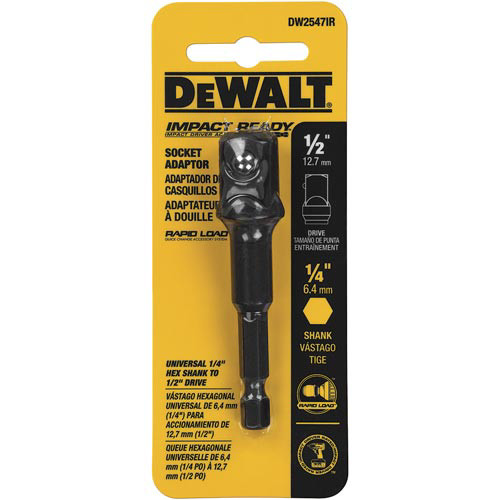Dewalt DW2547IR 1/4 in. Hex Shank to 1/2 in. Socket Adapter