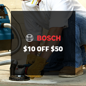 $10 off $50 on Bosch Power Tool Accessories!