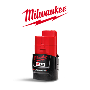 FREE Milwaukee M12 REDLITHIUM CP 2 Ah Battery