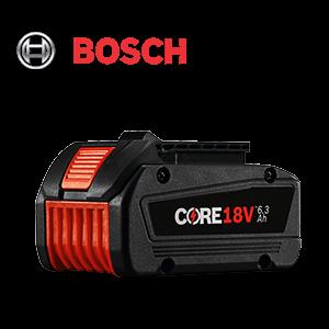 FREE Bosch CORE18V 6.3 Ah Battery