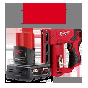 2 FREE Milwaukee M12 3.0 Ah Batteries