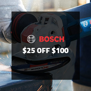 $25 off $100 on Bosch X-Lock Tools and Accessories