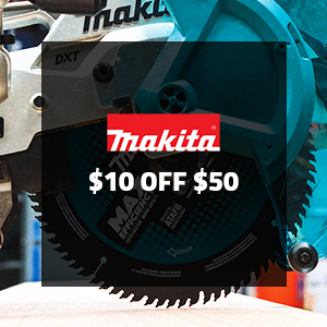 $10 off $50 on Makita Woodworking Accessories