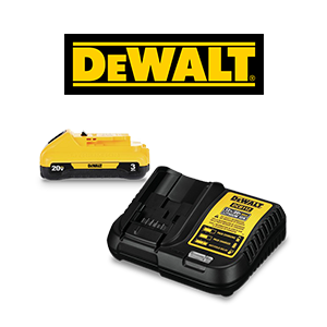 FREE DEWALT 20V MAX Battery & Charger Kit