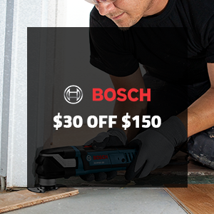 $30 off $150 on Bosch Oscillating Products