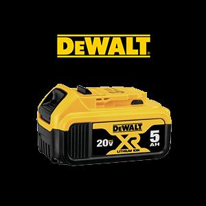 FREE DeWALT 20V MAX XR Premium 5 Ah Battery