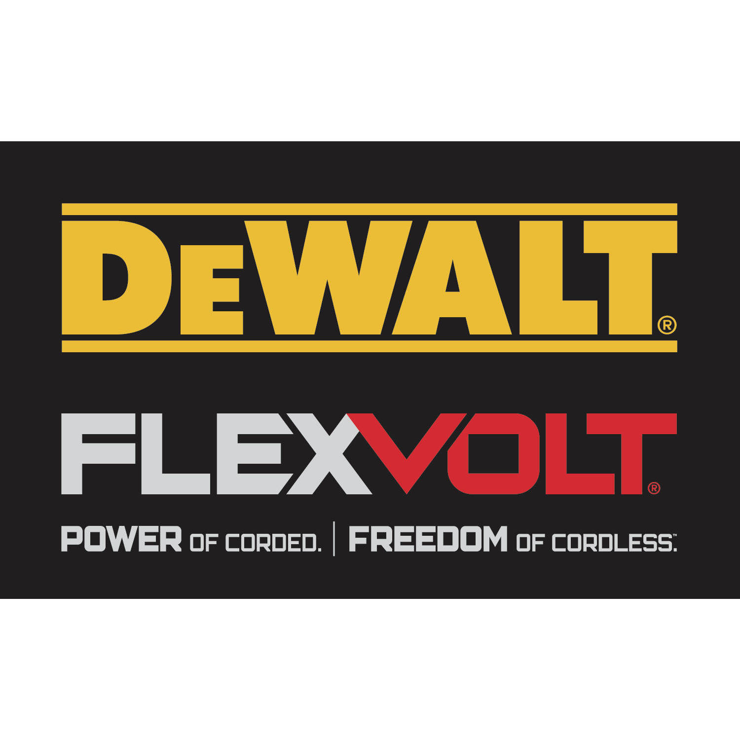 Dewalt FLEXVOLT - Power of Corded - Freedom of Cordless