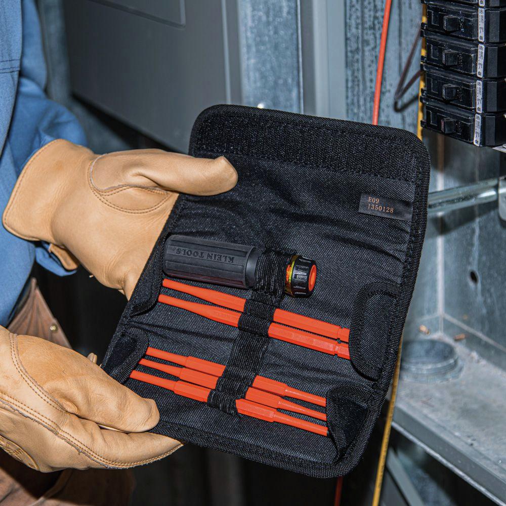 Klein Tools 32288 6-Piece 8-in-1 Insulated Interchangeable Screwdriver Set