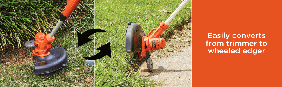 Easily Converts From Trimmer to Wheeled Edger