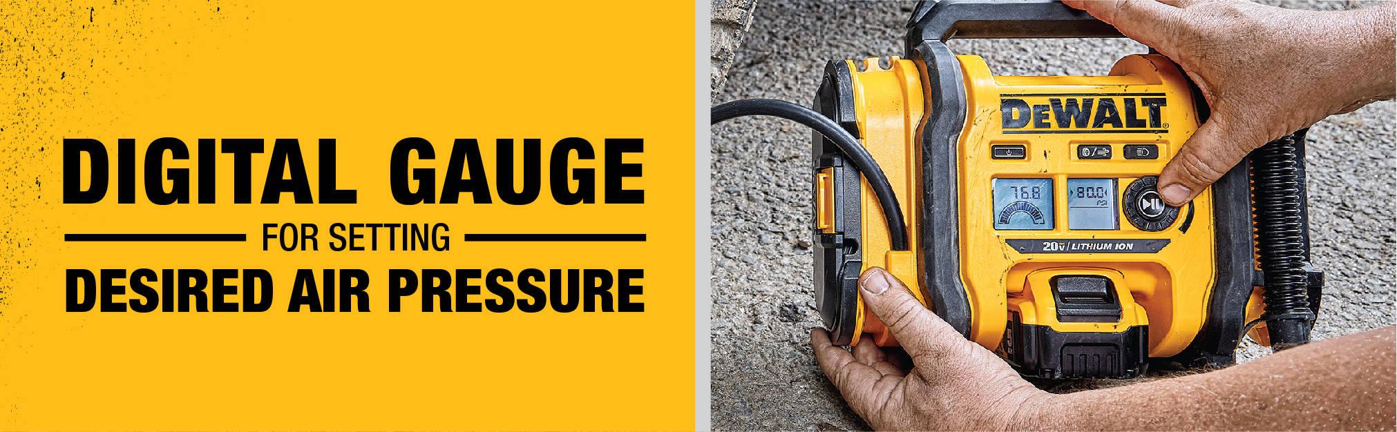 Digital Gauge for setting desired air pressure