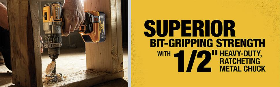 Superior Bit-Gripping Strength