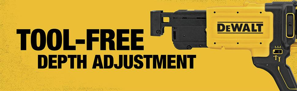 Tool-Free Depth Adjustment
