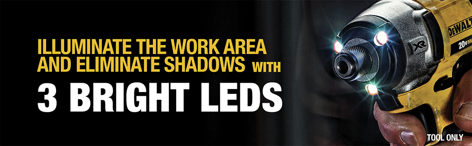 Illuminate The Work Area And Eliminate Shadows With 3 Bright LEDS