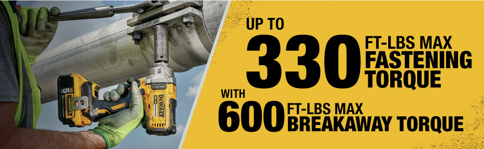 Up to 330-ft-lbs. Max Fastening Torque