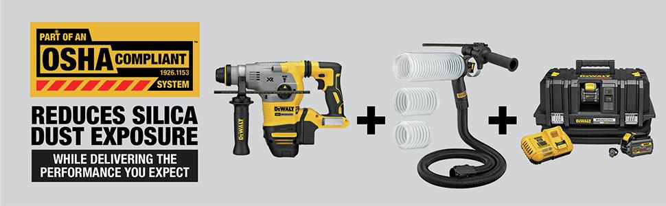 Reduces Silica Dust Exposure