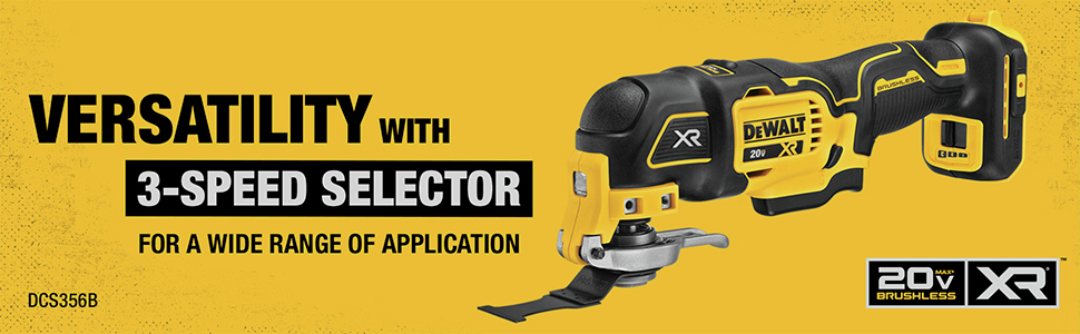 Versatility with 3-Speed Selector