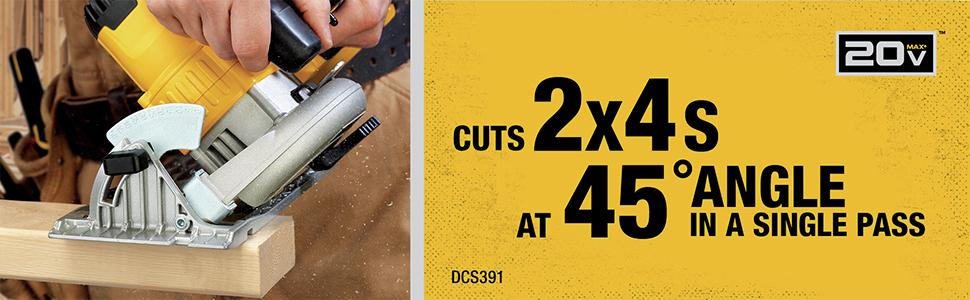 Cuts 2x4s at 45 Degree Angle