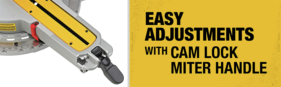Easy Adjustments with Cam Lock Miter Handle