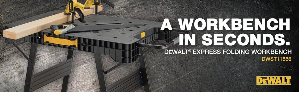 A workbench in seconds dewalt express folding workbench