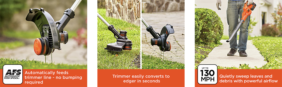 Automatically feeds trimmer line