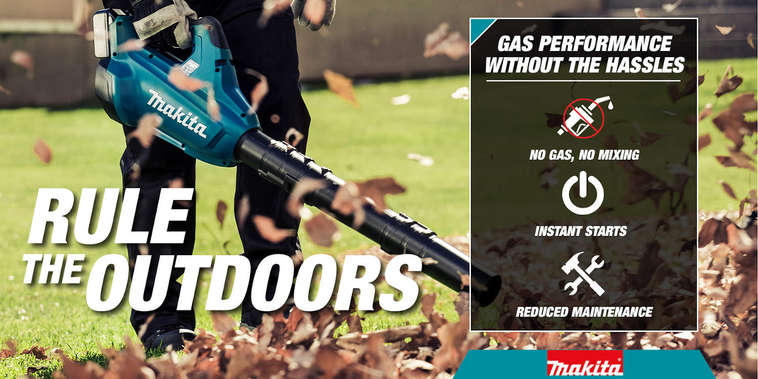 Rule the outdoors with cordless blowers with no need for gas and have reduced maintenance with instant start