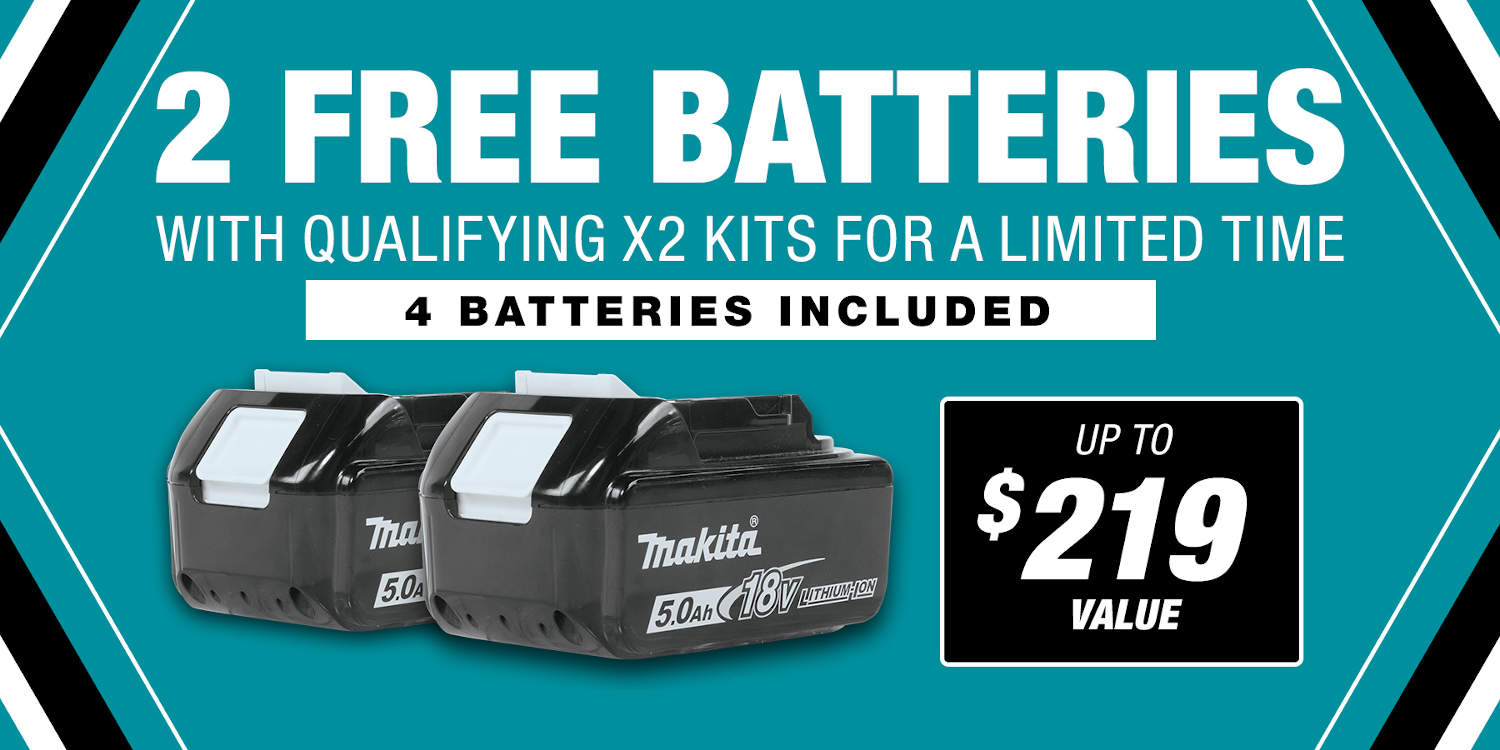 Receive 4 5.0 Ah batteries in this kit