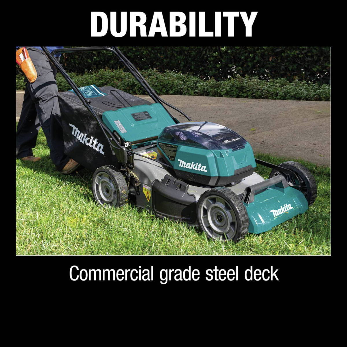 18V X2 (36V) LXT Lawn Mower features commercial grade steel deck