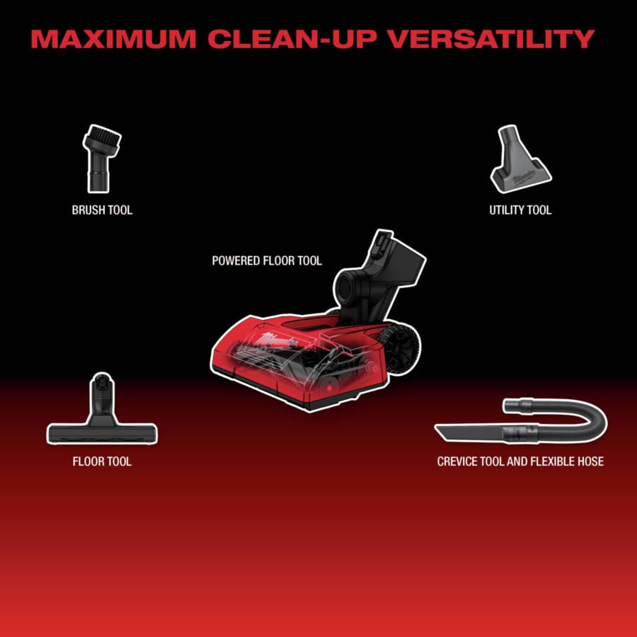 Maximum Cleanup Versatility
