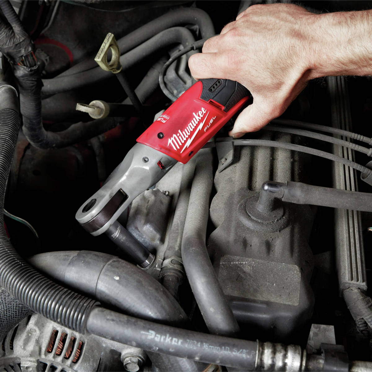 M12 FUEL 3/8 in. Ratchet allows users more access in tight spaces