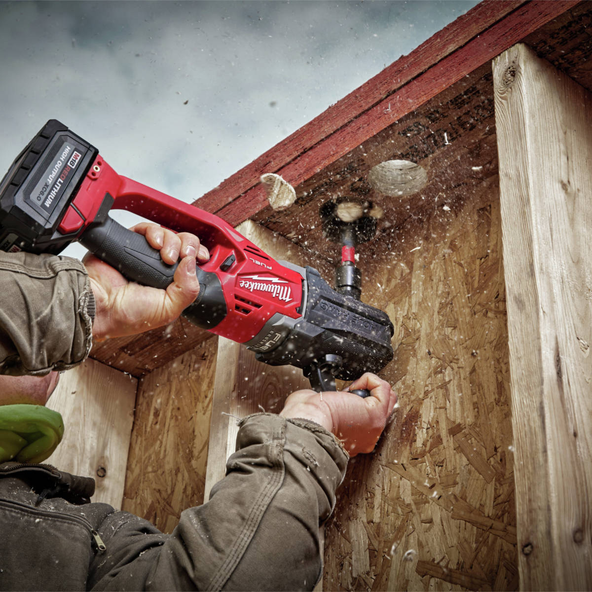 M18 FUEL HOLE HAWG Right Angle Drill with 7/16 in. QUIK-LOK is the lightest in its class