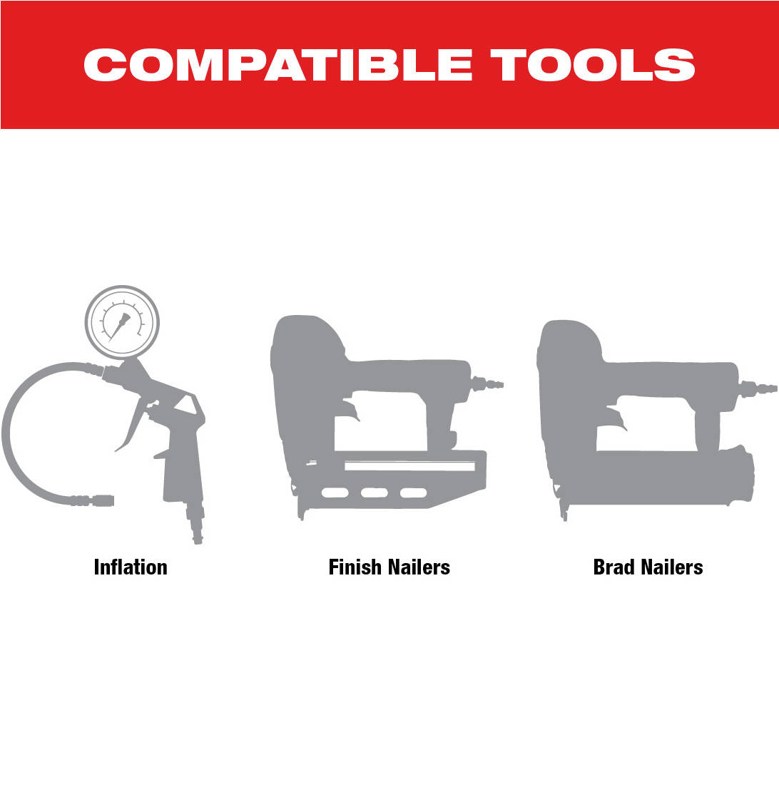 M18 Compressor is compatible with a variety of tools