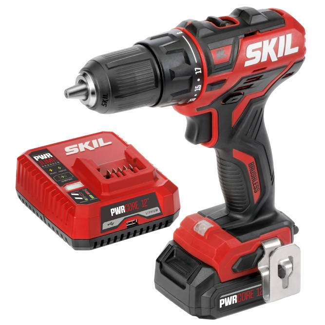 Cordless drill kit comes with PWRCore 12V 2 Ah Lithium-Ion Battery and PWRJump Charger -- everything you need to get started