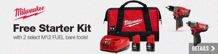 Free Milwaukee M12 2 Pack CP2.0 Starter Kit
