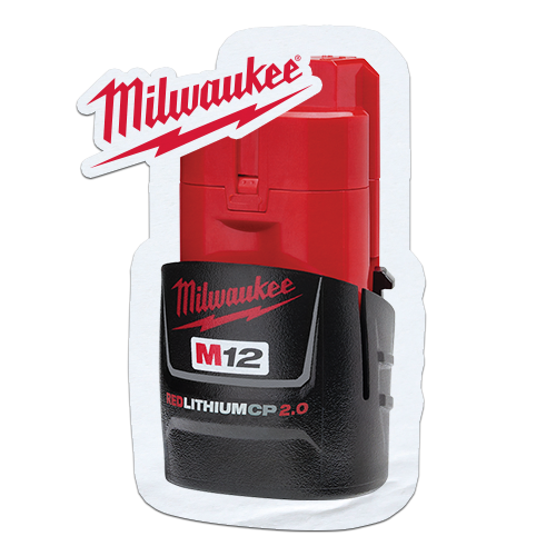 FREE Milwaukee M12 2.0Ah battery when you purchase a qualifying Milwaukee M12 bare tool