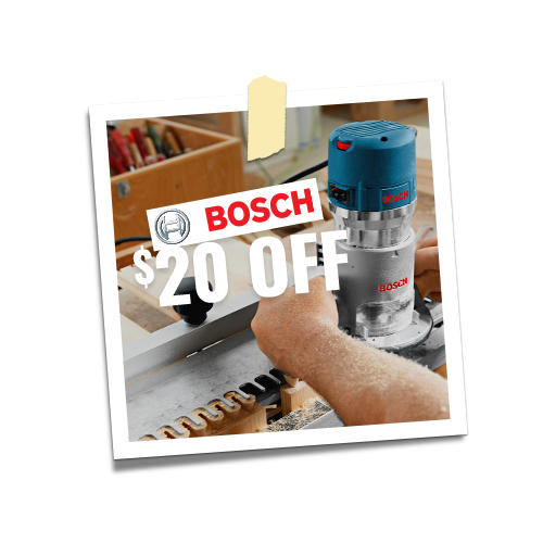 $20 off Bosch Orders Over $100