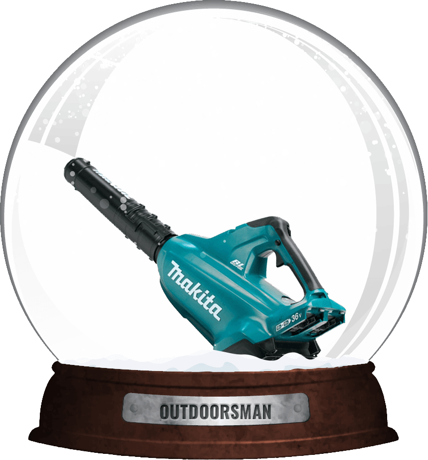 outdoorsman snow globe