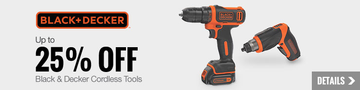 Up to 25% off select Black + Decker Cordless Tools