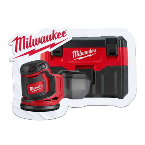 Choice of 2 FREE Milwaukee bare tools or batteries